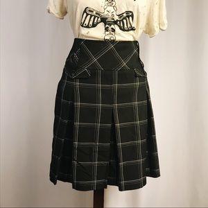 Plaid Pleated Mini Skirt
